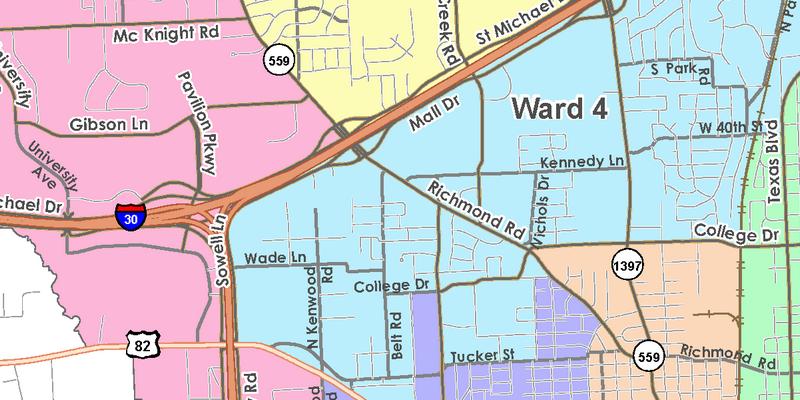 Texarkana maps texarkana texas wards publicscrutiny Choice Image